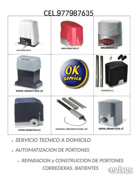 Portones automatico, servicio a domicilio, quilllota, la calera, limache, olmue, 977987635