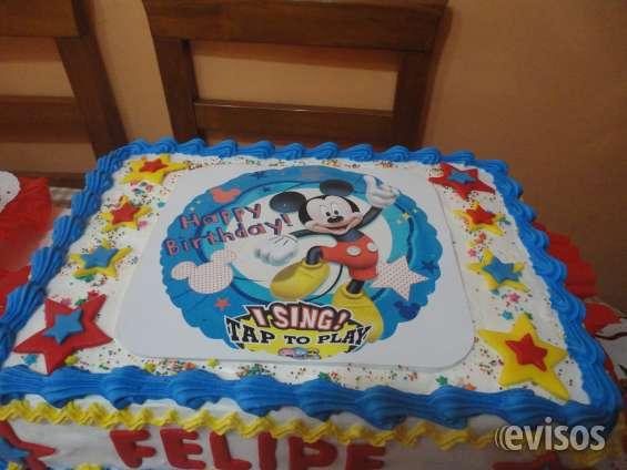 Torta de mickey   de merengue