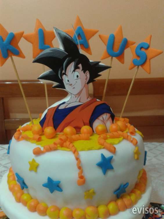 Torta de dragon ball  z  de fondant