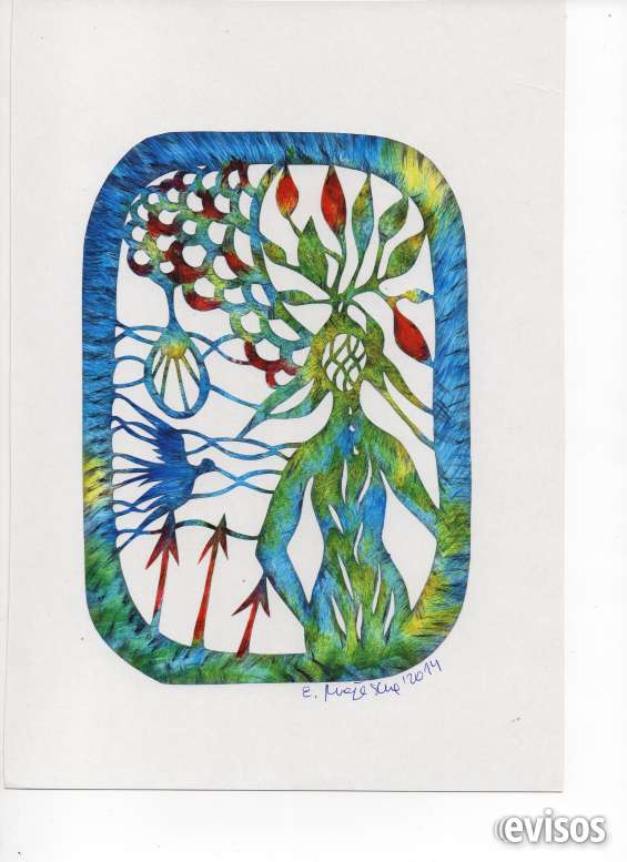 Cuadros de arte polaco wicinanky, hermosos diseños.
