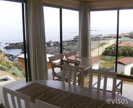 Los molles - arriendo casa 2 dormitorios vista panoramica frente al mar