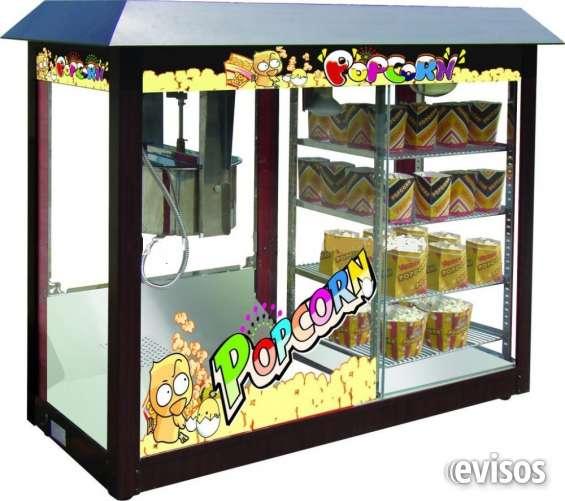 Maquina popcorn con vitrina