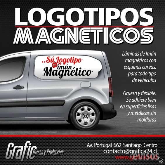 Logotipos magneticos para publicitar en camionetas
