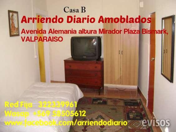 Buscas alojamiento en valparaiso, tvcable y wifi arriendo diario apartamentos amoblados independientes  costo diario 1 o 2 personas $30000  costo diario 3 o 4 personas $35000 wasap +56 958505612 o teléfono fijo 322339961
