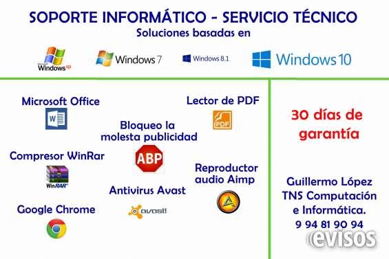 Servicio tecnico informatico domicilio