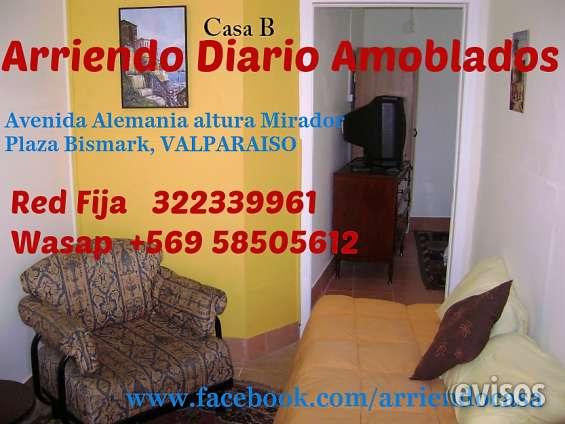 Arriendo diario amoblado en valparaiso, wasap +56 958505612