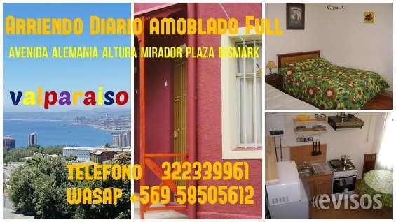Arriendo diario casa amoblada valparaiso, wasap +56 958505612