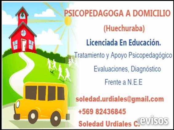 Psicopedagoga a domicilio (huechuraba)