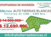 OPORTUNIDAD DE INVERSION PARCELAS, San Felipe, V Región. desde  $ 12.690.000.-