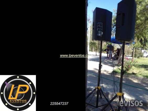 Servicio amplificacion equipos de audio profesional renta
