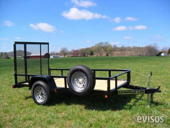 Carro de remolque de utilidad 5x10 gator con un eje de 3500 lbs