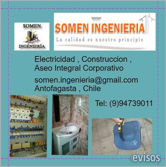 Construccion,electricidad,seguridad,aseo