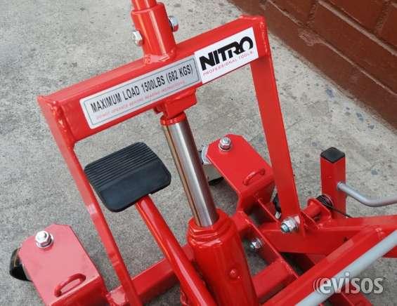 Elevador de montaje hidráulico 1500 lbs con ruedas