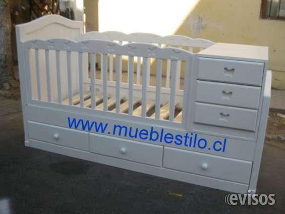 Cama cuna convertible para bebe mariposa, muebles de bebé ...