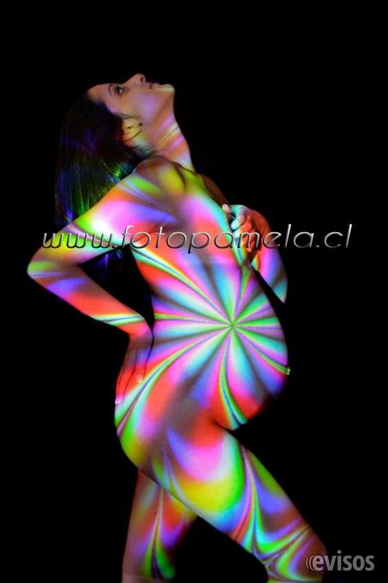 Cuerpo pintado, sesion proyeccion de luz novedosa sesion llena de colores!