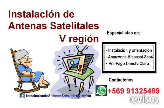 Instalacion de antenas satelitales quinta region - v region