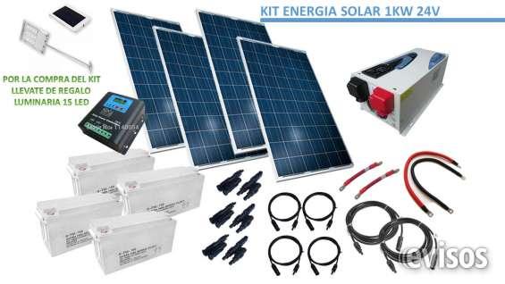 Kit off grid energia solar hogar 1.000w 24v full