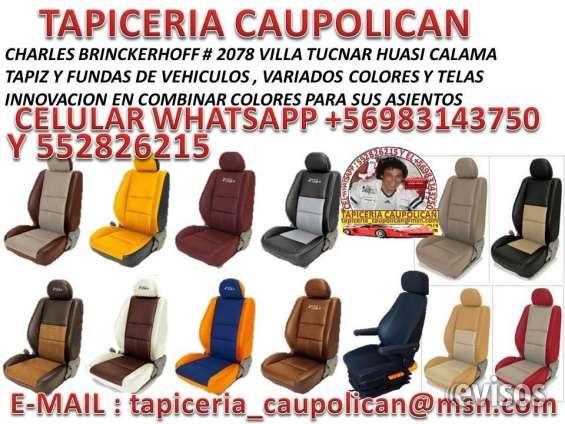 Tapiz asientos variados colores y telas