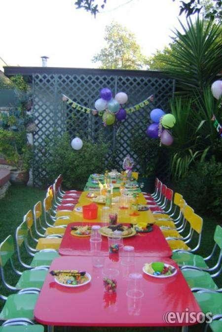 Arriendo mesas y sillas para eventos infantiles 961908923