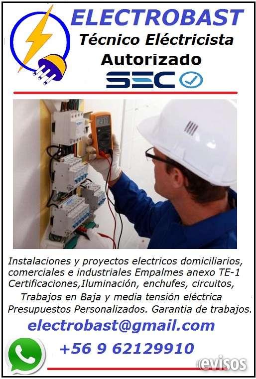 Contrate solo electricos autorizados sec