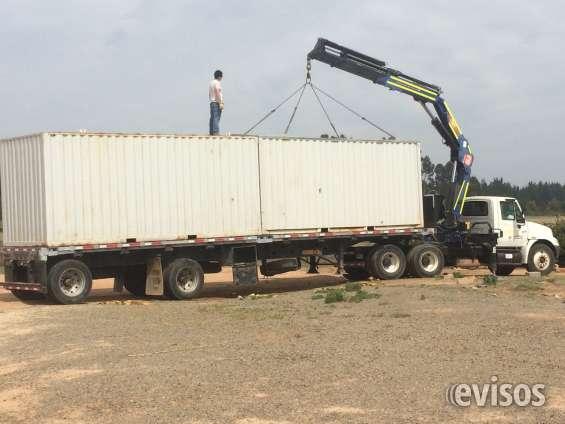 Camion pluma. arriendo de contenedores