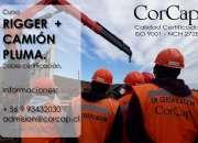 Curso rigger + grua pluma (camion pluma) certificado