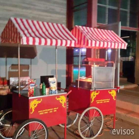 Carritos de hot dog , churrascos , popcorn , algodon de azucar