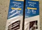 Persianas pvc color burdeos 70x90 nuevas