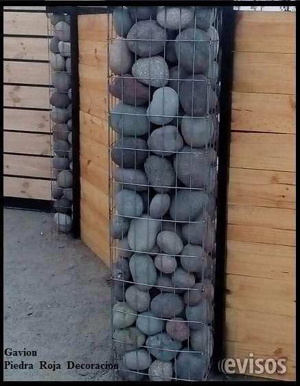 Gaviones,pilares con malla,piedra para cierres perimetrales,diseños.