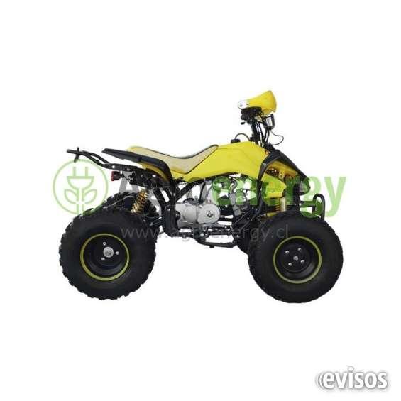 "Cuatrimoto atv con velocímetro 125cc aro 8"" amarilla"
