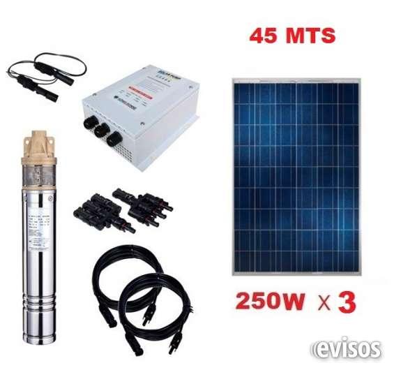 Kit full bomba pozo profundo 45 mts energia solar 750w