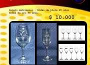 copas grabadas regalo 50 años aniversario de matrimonio bodas de oro