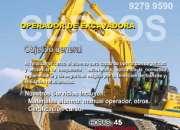 Curso operador de Excavadora