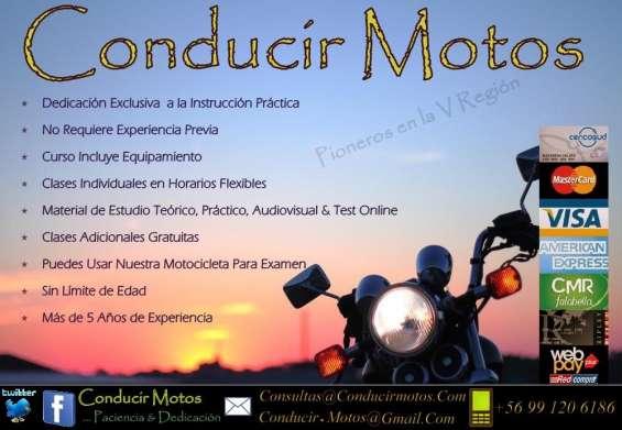 Cursos de moto v región - clases de motocicleta - obtener licencia clase c