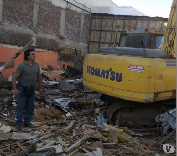 Demoliciones quilicura huechuraba +56973677079 renca arriendo retroexcavadora