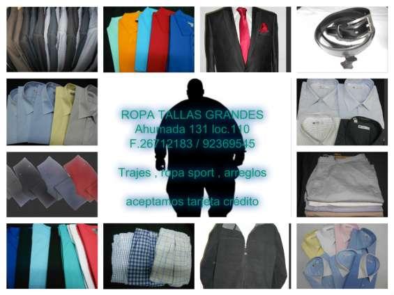Gran surtido en ropa sport y vestir