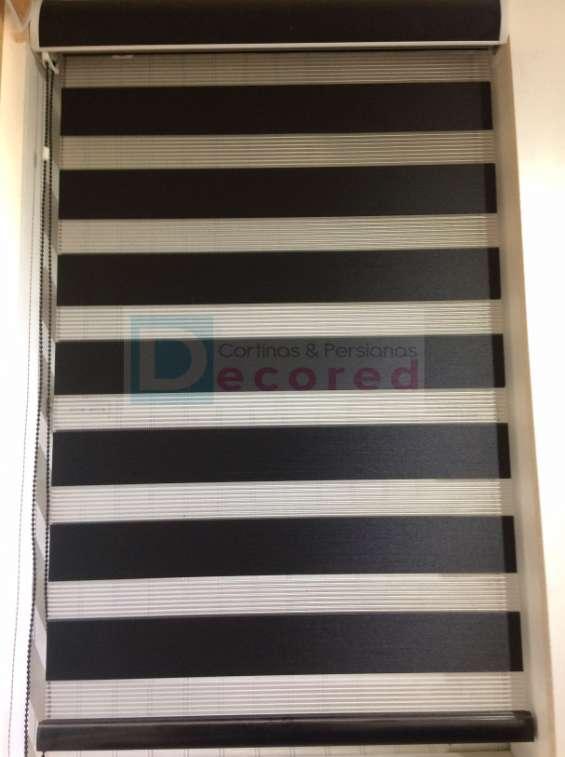 Cortinas roller duo (día y noche - zebra) decored cortinas y persianas