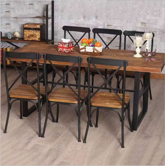 muebles estilo industrial fierro madera andres gasman - Muebles Estilo Industrial