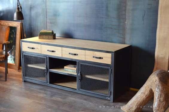 Muebles fierro-madera nativa estilo industrial andres gasman