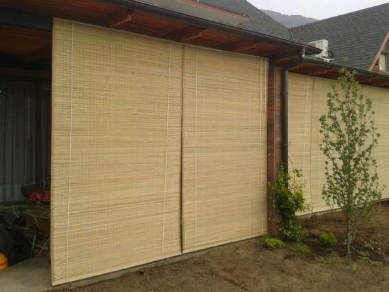 Cortinas de totora, fabrica de cortinas de totora en santiago