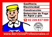 Gasfiter, plomero, electricista a domicilio a todas las comunas,