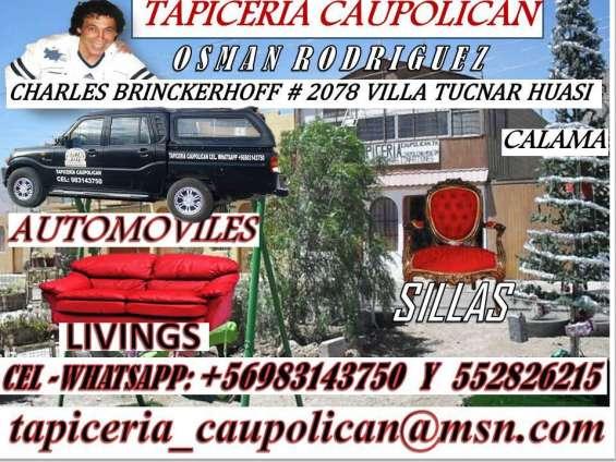 Tapiceria caupolican , vehiculos , living sillas y mucho mas , consulte