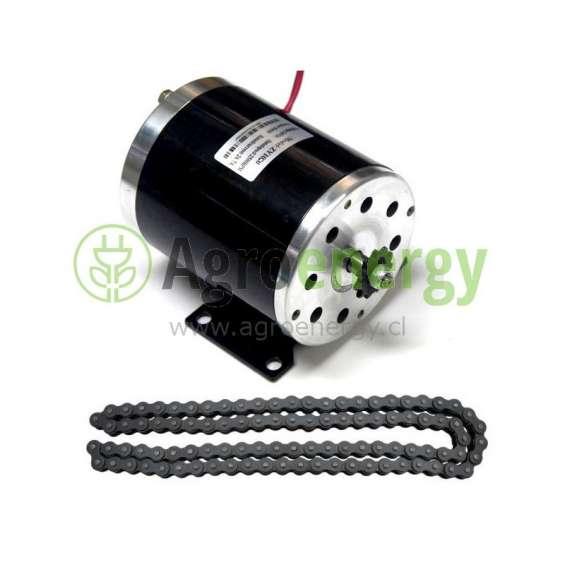 Motor eléctrico 800w 36v dc con cadena