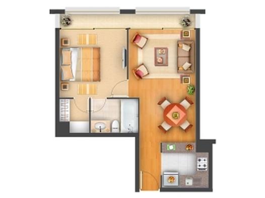 Departamento céntrico 1 dormitorio, a pasos u de concepción