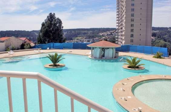Arriendo departamento en reñaca espectacular vista al mar con piscinas