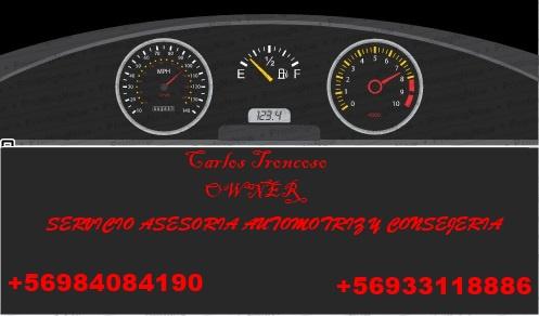 Asesoría automotriz y consejería, corrección de km, reprogramacion de tableros