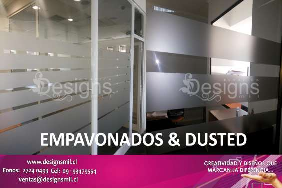 Adhesivo empavonado en vidrios | ofrecemos diseño e instalación?