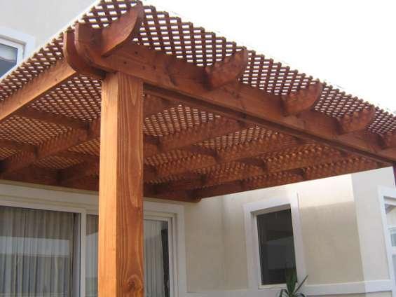 Cobertizos de madera, terrazas,- stgo y v región