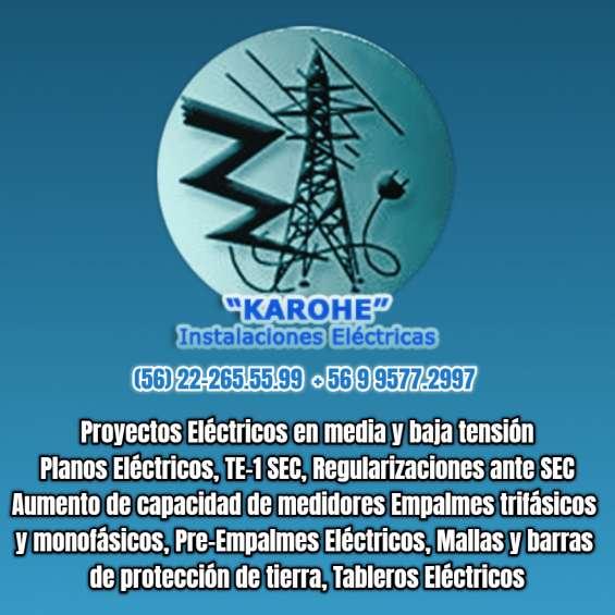 Empalmes electricos te1 sec 222655599 electricista en santiago
