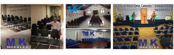 Mesas iglesia sillas